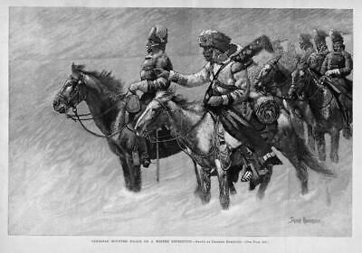 Frederic Remington Canadian Mounted Police On A Winter Expedition Horses Saddle