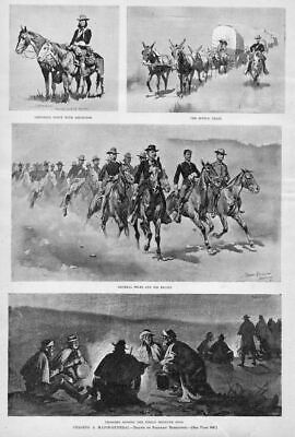 Frederic Remington General Miles Troopers Singing Indian Medicine Song Horses