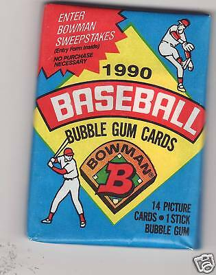 1990 Bowman baseball cards  pack  NEW  Unopened  SEALED