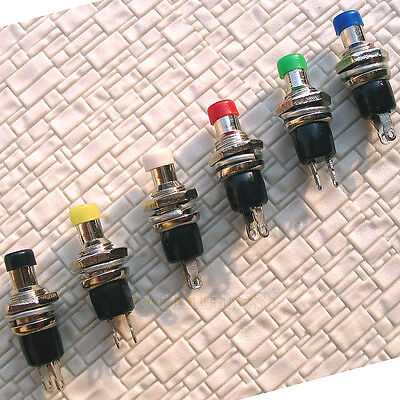 30 pcs Momentary Push Button Switches 6 Multi-Colors
