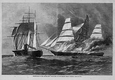Clipper Ship Jacob Bell Destroyed 1863 Pirate Florida