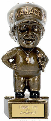 """FOOTBALL Soccer Manager Bobble Head Trophy 6"""" (15.25cm) FREE ENGRAVING Award New"""