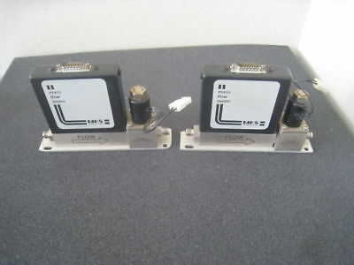 Lot of 2 MKS 1258B Mass Flow Meter 1258B, N2 gas, 10 sccm and 100 sccm