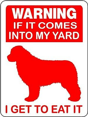 NEWFOUNDLAND  DOG GUARD  Aluminum Sign V 3062