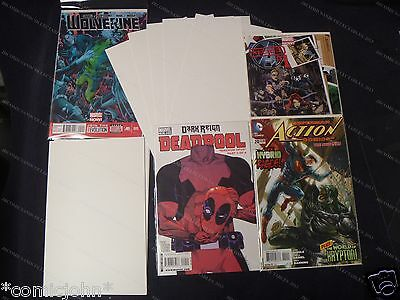 100 x CURRENT SIZE COMIC BAGS &  BACKING BOARDS. SIZE B