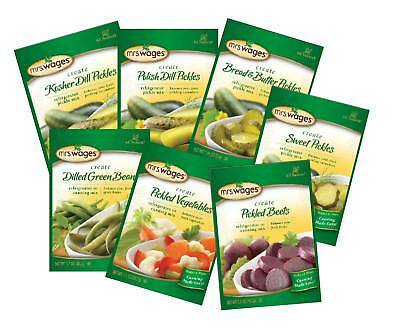 Mrs Wages Refrigerator Pickle Mixes-7 Varieties! L@@K!!