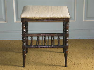 Victorian Oak Piano Stool