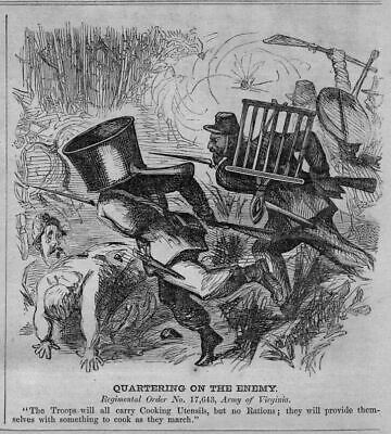 Civil War Army Troops Carry Cooking Utinsils No Rations