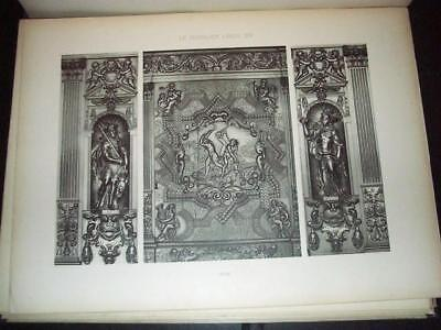 Louis XIV Period Furniture Reference Folio, 1909 Hessling 40 Heliotype Plates
