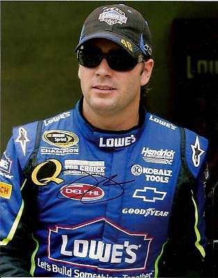 JIMMIE JOHNSON NASCAR SIGNED 8X10 PHOTO...4 TIME CHAMP