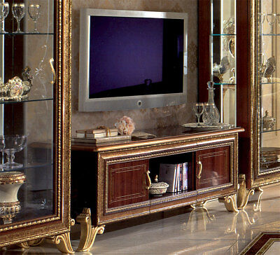 luxus lcd tv schrank plasma giotto luxus m bel italien design nussbaum gold eur. Black Bedroom Furniture Sets. Home Design Ideas