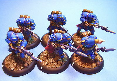 Warmachine painted miniature Cygnar Trenchers (6)