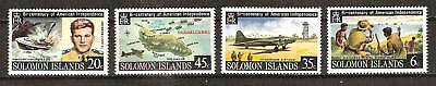 Solomon Islands #333-336 Mnh World War Ii Guadalcanal Kennedy