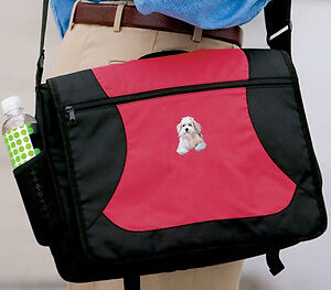 BICHON FRISE embroidered messenger bag ANY COLOR