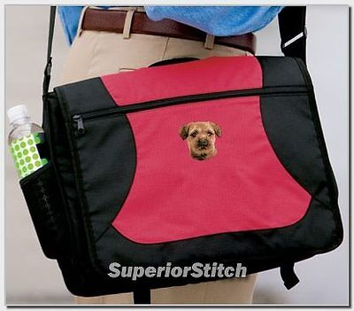 BORDER TERRIER embroidered messenger bag ANY COLOR
