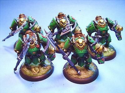 Warmachine painted miniature Shocktroopers Green (5)