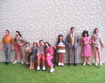30 pcs G Scale 1:24 Painted Figures People passenger