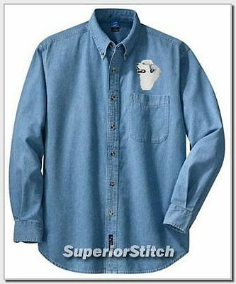 GREAT PYRENEES embroidered denim shirt XS-XL