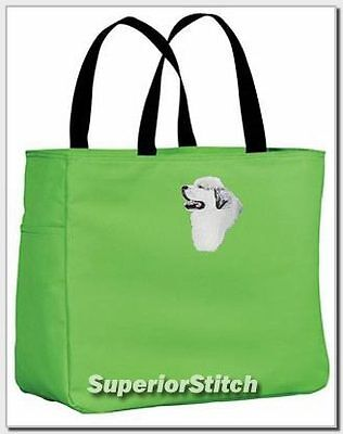 GREAT PYRENEES embroidered essential tote bag ANY COLOR