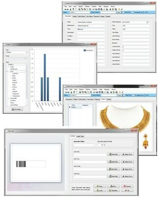 Windows 10 Handcrafted Gold Silver Jewelry Inventory Tracking Database Software