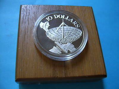 1978 Satellite Dish 1978 Singapore 925 Silver Coin $10 Proof Coin Very Rare Box