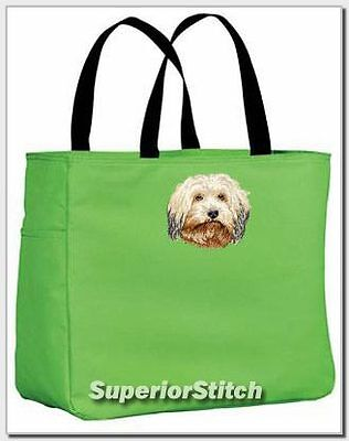 HAVANESE embroidered essential tote bag ANY COLOR