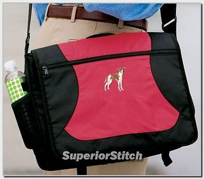 ITALIAN GREYHOUND embroidered messenger bag ANY COLOR