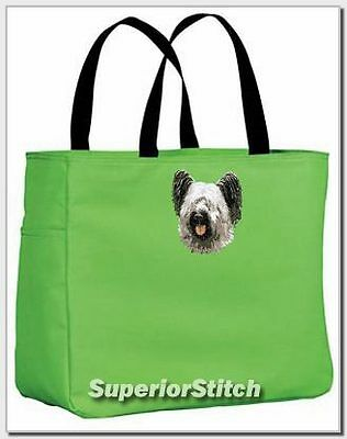 SKYE TERRIER embroidered essential tote bag ANY COLOR