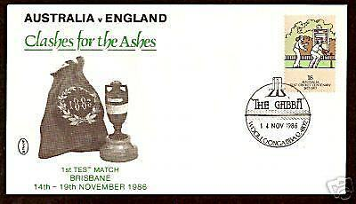 CRICKET ASHES 1986 1st TEST MATCH BRISBANE COVER