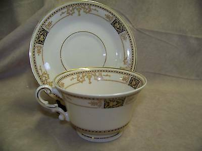 SYRACUSE WEBSTER OLD IVORY CUP AND SAUCER SET-EX COND.