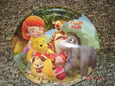 NEW 8  DISNEY WINNIE THE POOH  PLATES, PARTY SUPPLIES