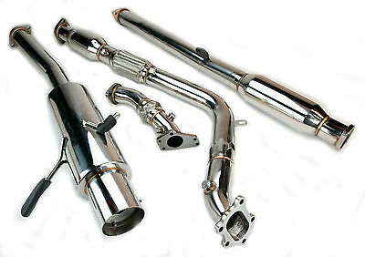 EXHAUST SYSTEM TURBO BACK FOR 92-06 SUBARU IMPREZA WRX STi GD GG S RA P1 GC8