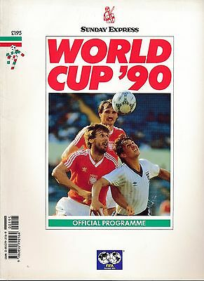 WORLD CUP 1990: Official Tournament brochure UK edition