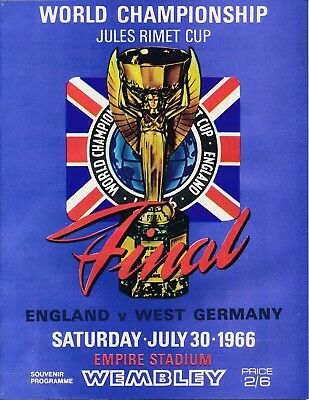 WORLD CUP FINAL 1966 England v W Germany 1960's reprint
