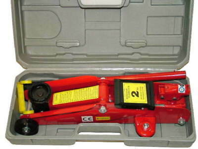 2 TONNE HYDRAULIC TROLLEY CAR JACK GARAGE HOIST LIFTER  car small van