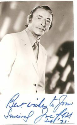 Joe Loss SIGNED AUTOGRAPH Orchestra Big Band AFTAL UACC RD