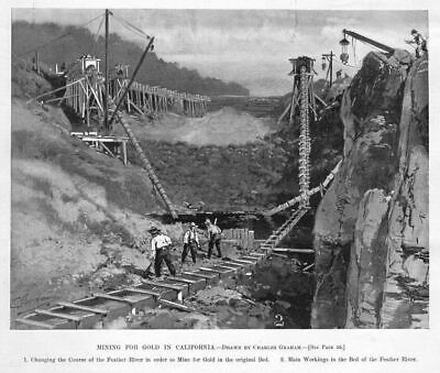 Mining For Gold In California, Feather River Gold Mine