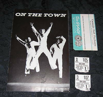 Playbill ON THE TOWN @ Carnegie Hall Playhouse Theatre, 1959, tickets/envelope