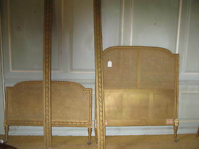 19th Century Giltwood Bergere Bed