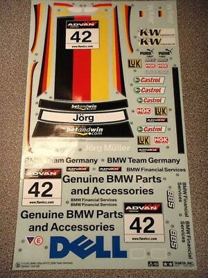 New Tamiya BMW 320si WTCC *1/10 SCALE* Decals / Stickers 58385 *Incomplete*