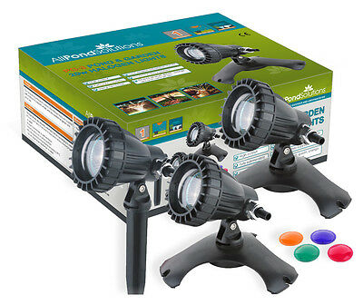 Underwater Pond and Garden light set of 3 All Pond Solutions PG-3 Lights