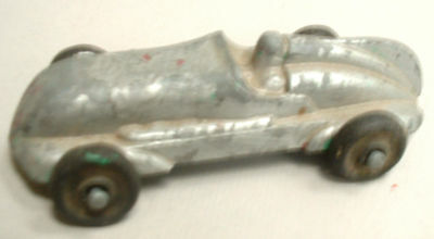 OPEN COCKPIT  RACER SILVER FLECKED RED PAINT