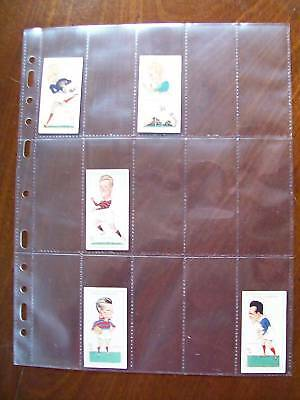 MULTIMASTER SYSTEM QUALITY Acid Free 15 Pocket CIGARETTE CARD PAGES x 100