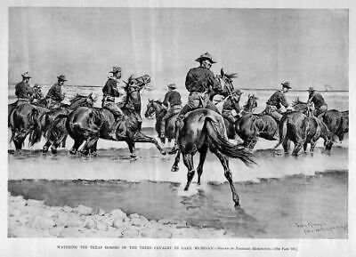 Frederic Remington, Watering Texas Horses Lake Michigan