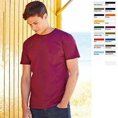 5 x Herren Mann Men T-Shirt Shirt Fruit of the loom Super Premium T S M L XL XXL