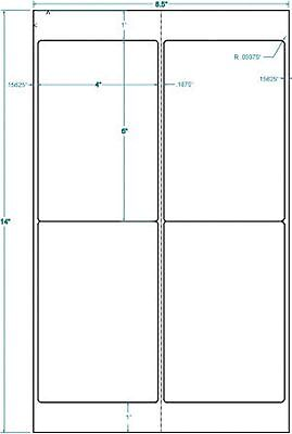 4 x 6 Shipping Labels Legal Size Sheet Labels :313907