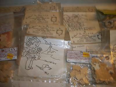 Lot of Vintage Paintable Wooden Cutouts