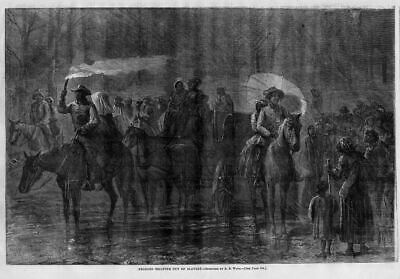 Negroes Escaping Out Of Slavery, Black History, Antique