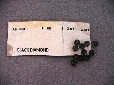 VINTAGE SWAROVSKI CRYSTAL BEADS NEW 8MM  BLACK DIAMOND