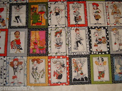 LORALIE SEW FABULOUS SEWING QUILT FABRIC PANEL 21 BLOCK sold by the panel